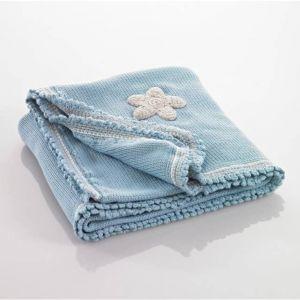Blue Organic Blanket - Suzi