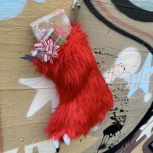 Furry Sasquatch Xmas Stocking