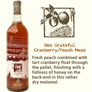 Bee Grateful Cranberry/Peach Mead